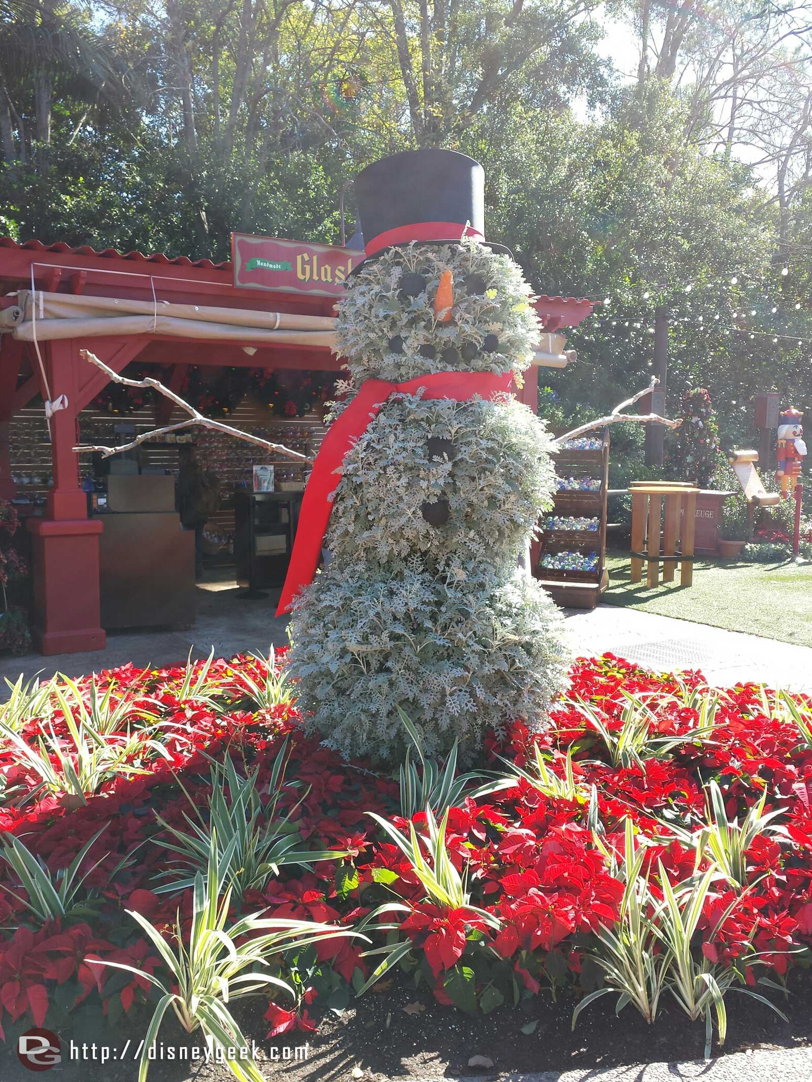 "A ""snowman"" near Germany #Epcot"