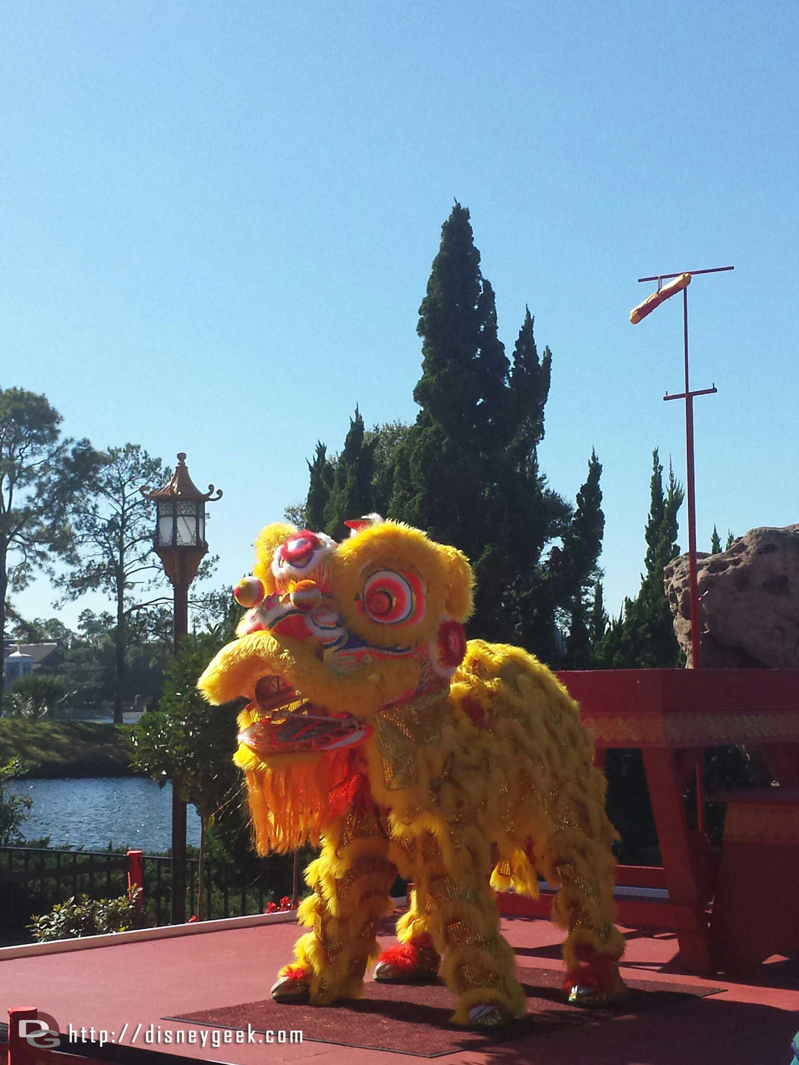 Chinese Lion Dancers #Epcot Holidays Around the World