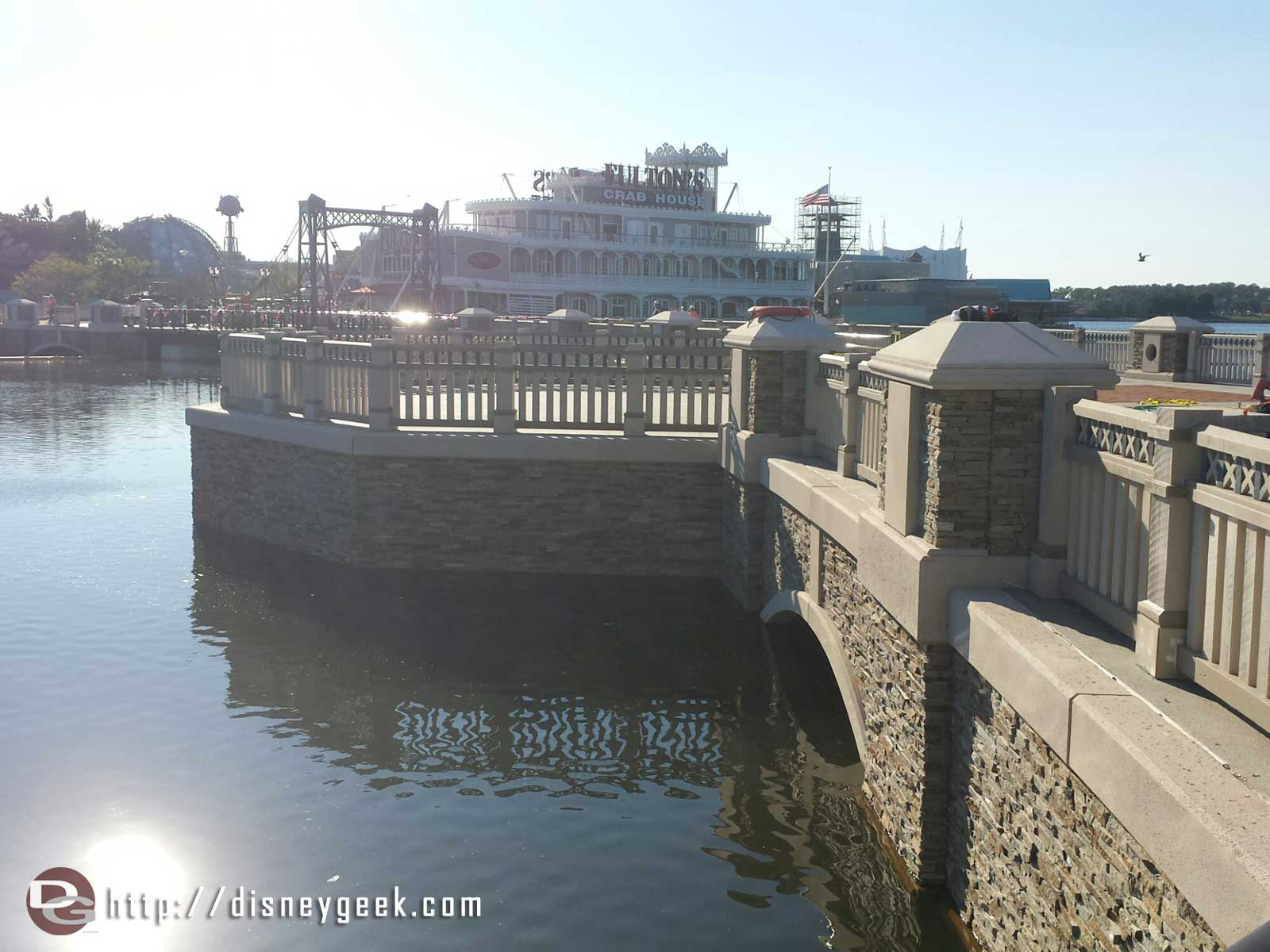 The new Disney Springs causeway is nearing completion