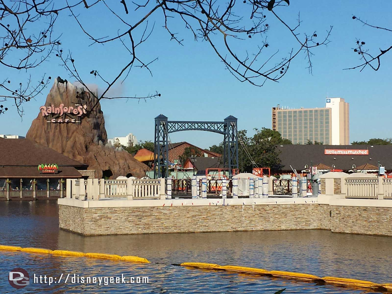 The new Disney Springs causeway from the other side