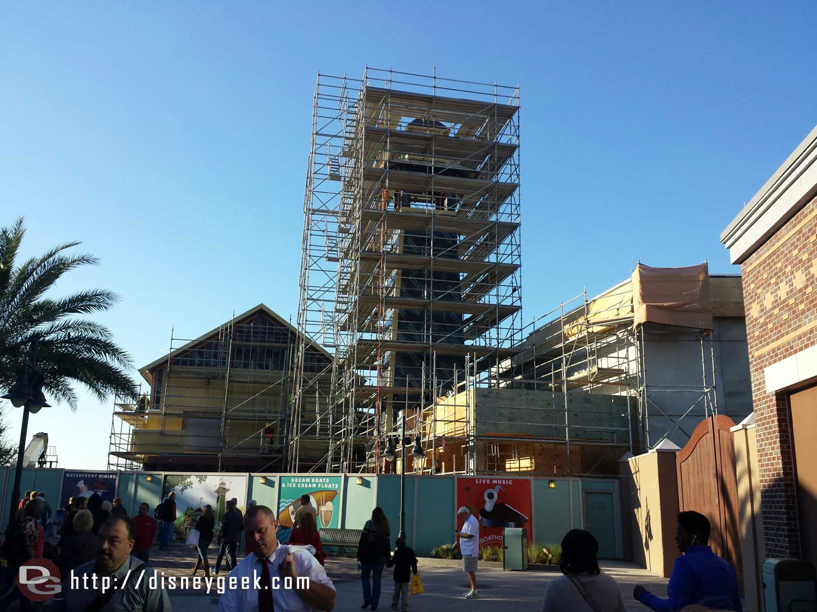 The current state of the Landing at Disney Springs