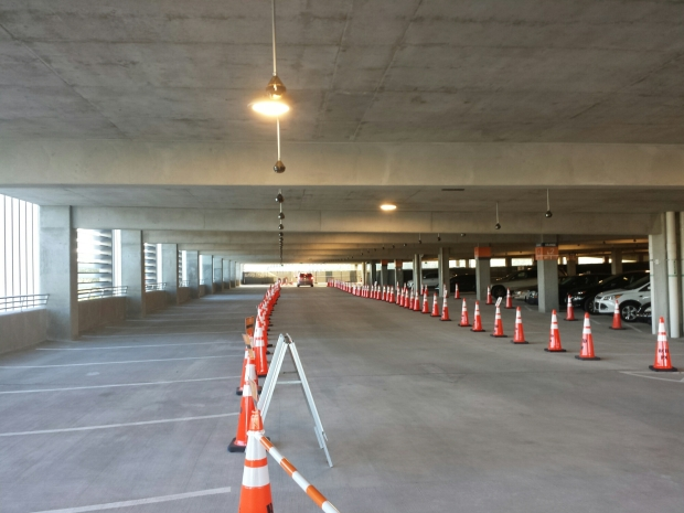 A look inside the new Disney Springs parking garage that is partially open to guests.