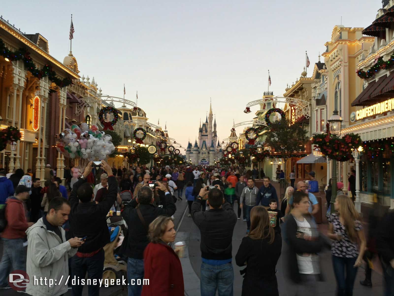 Main Street USA this evening #WDW Magic Kingdom