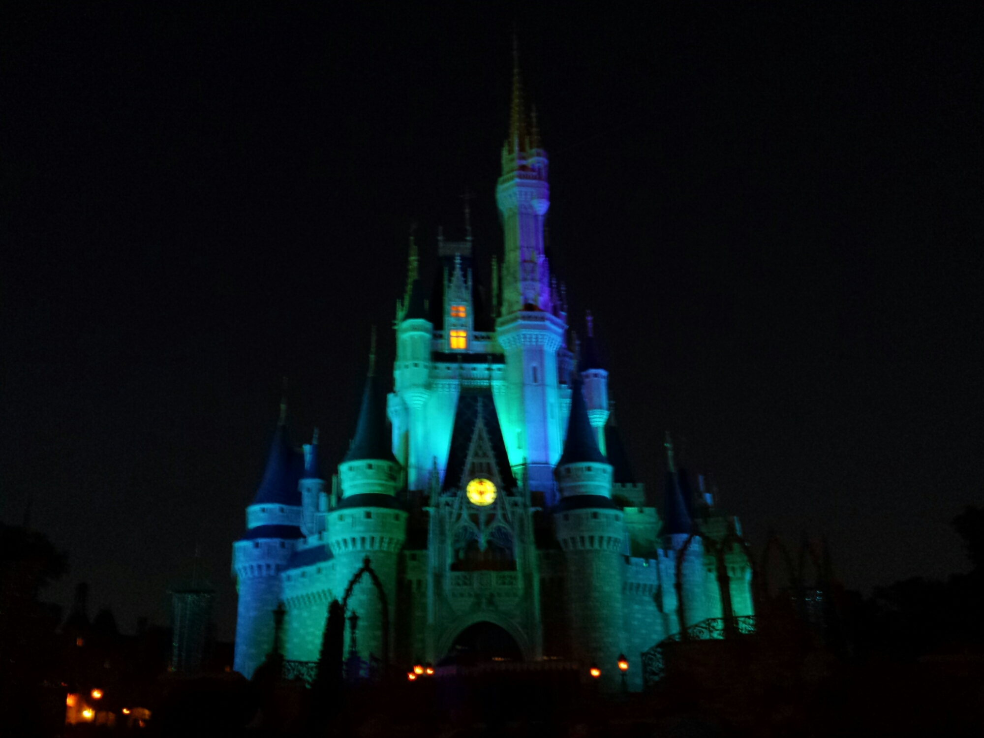 Waiting for A #Frozen Holiday Wish aka the Castle lighting