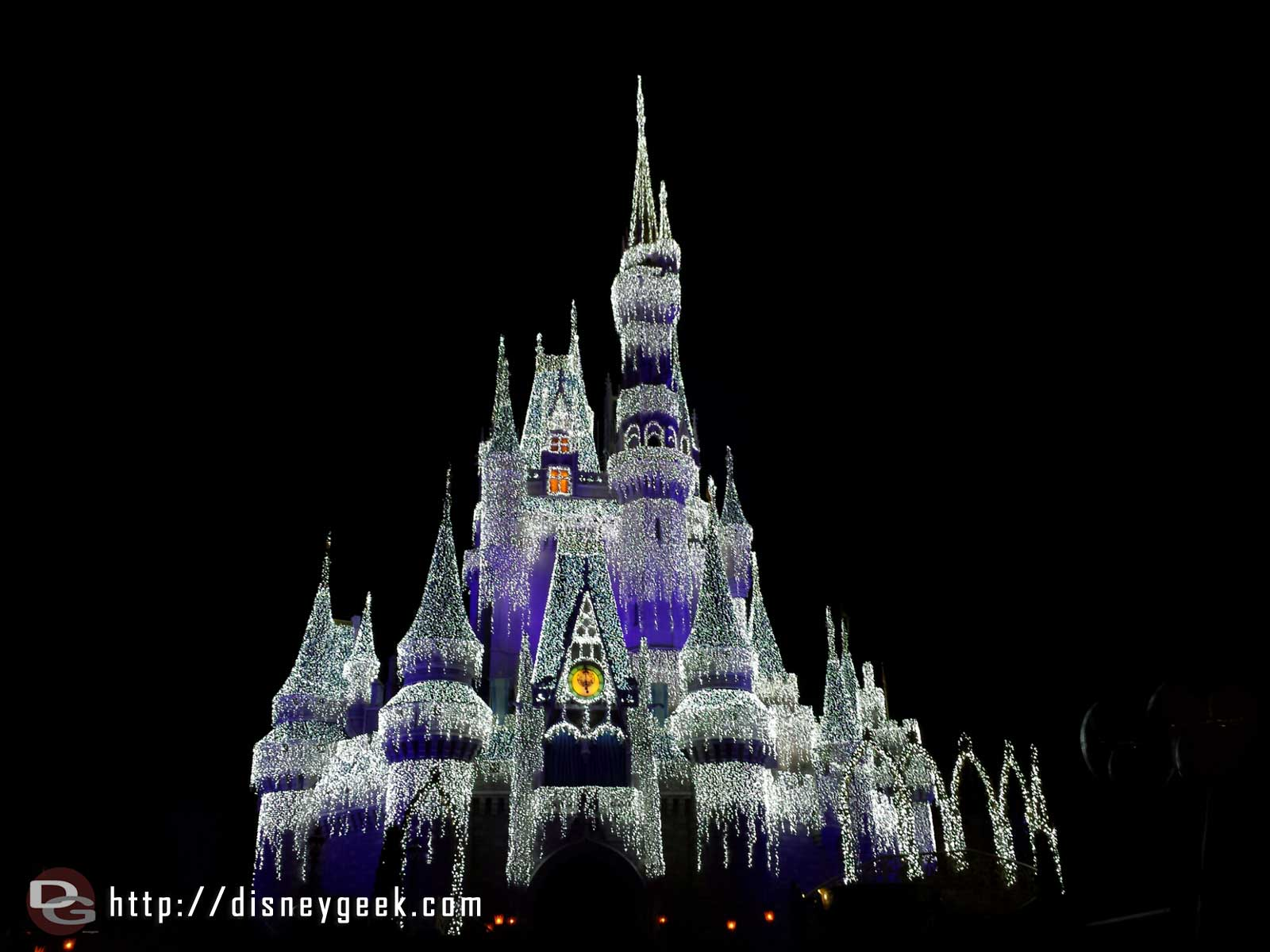 "Cinderella Castle with ""ice"" #WDW Magic Kingdom"