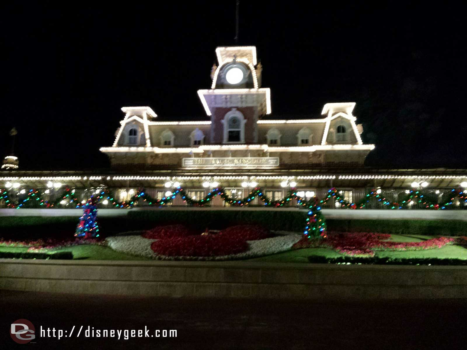 Main Street Train Station on the way out #WDW Magic Kingdom