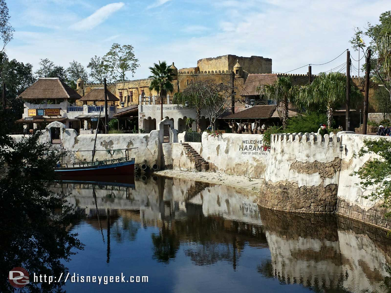 Looking toward the Harambe theatre from the bridge