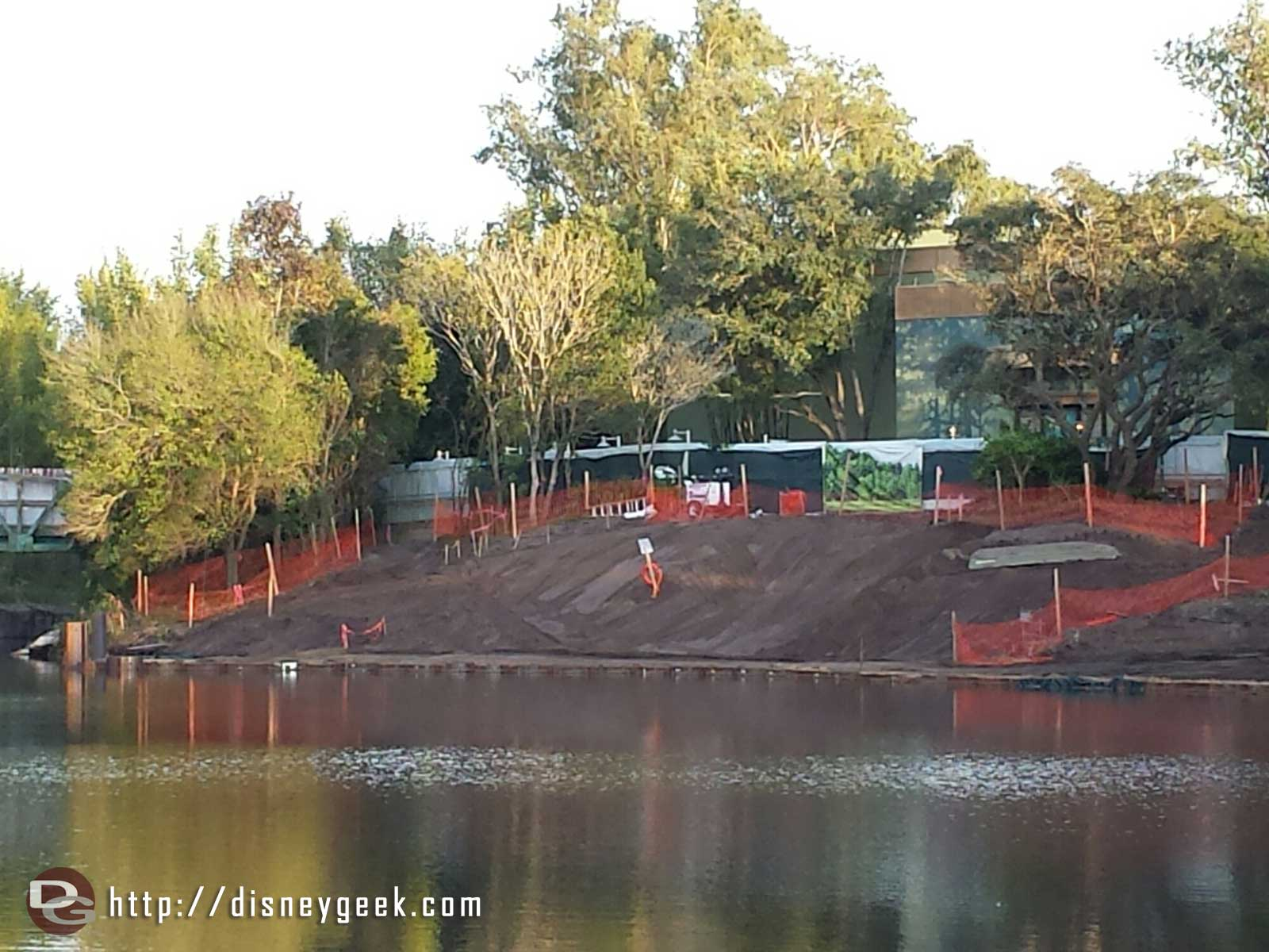 Rivers of Light construction (this is to the right of the prev pic) Disney's Animal Kingdom