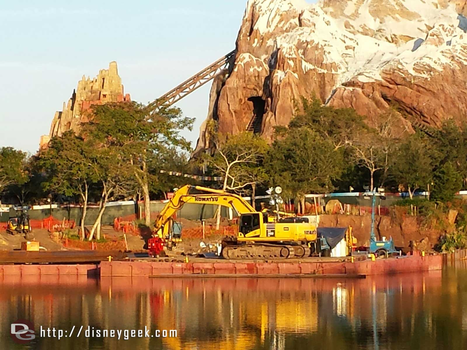 Rivers of Light construction at Disney's Animal Kingdom