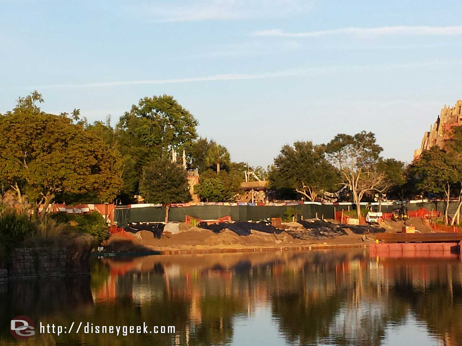Panning to the left here is a closer look at the Rivers of Light construction.