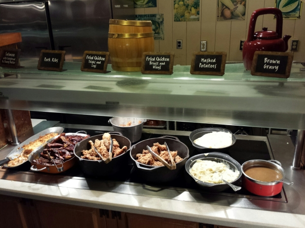 Dinner this evening was at Trails End out at Fort Wilderness.  A sample of the food.