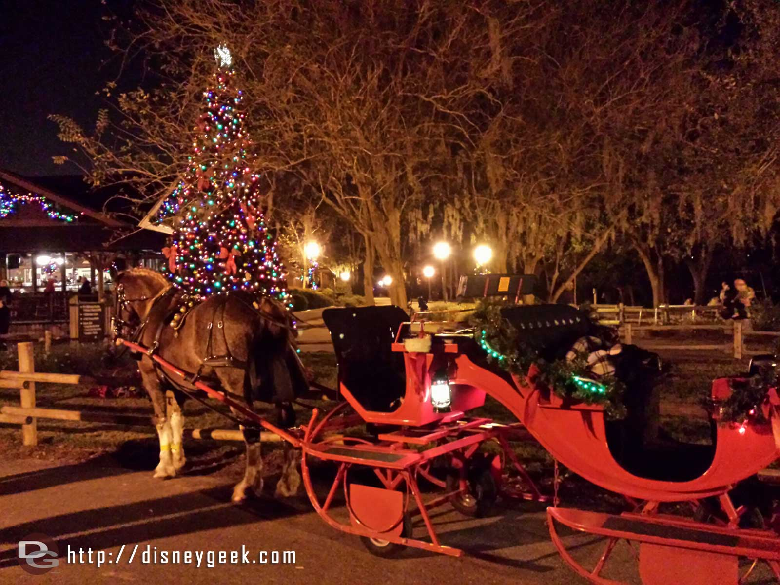 Holiday Sleigh rides at Fort Wilderness $70 for 25 min ride