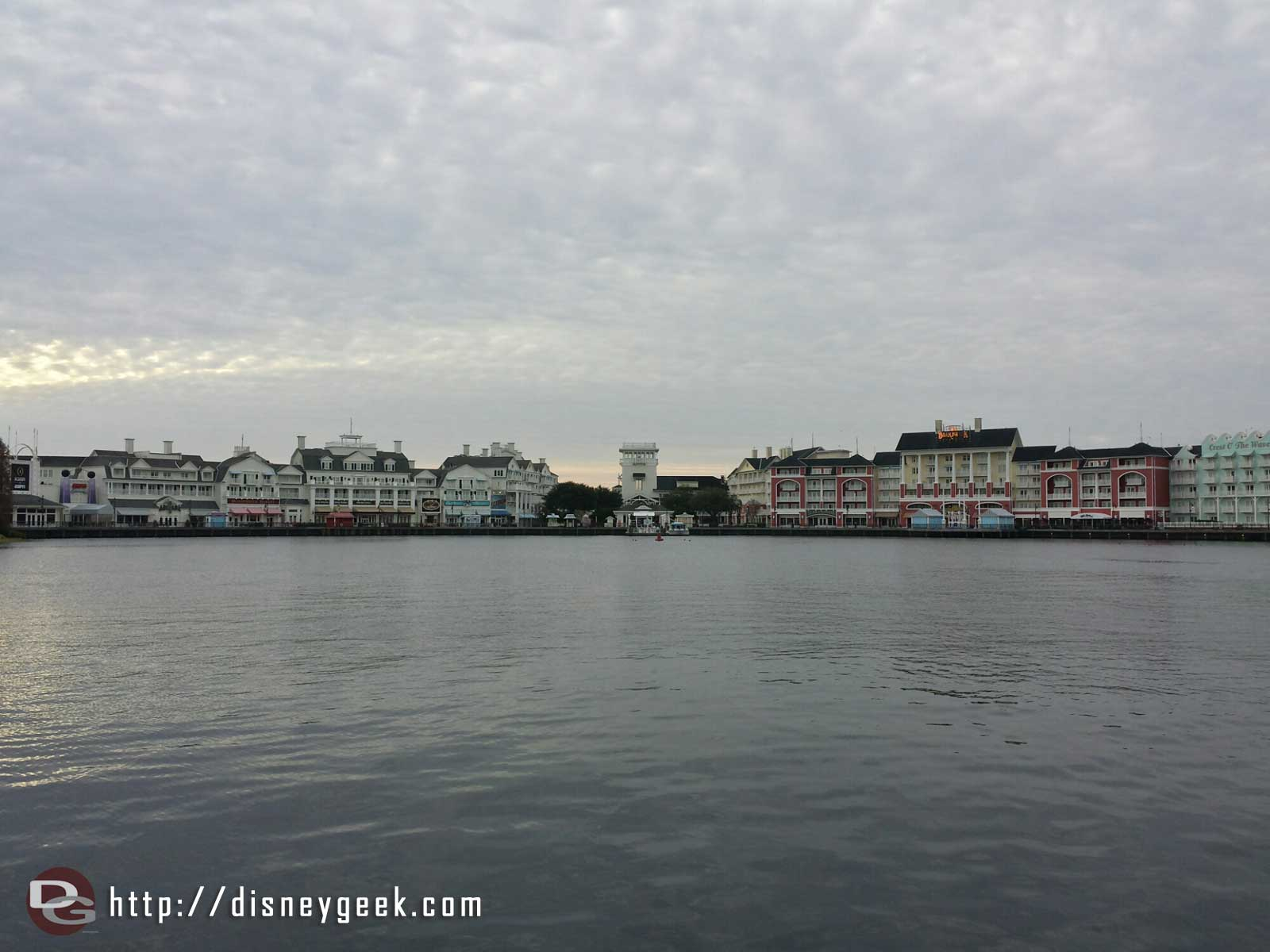 The Boardwalk Resort from the pier #WDW