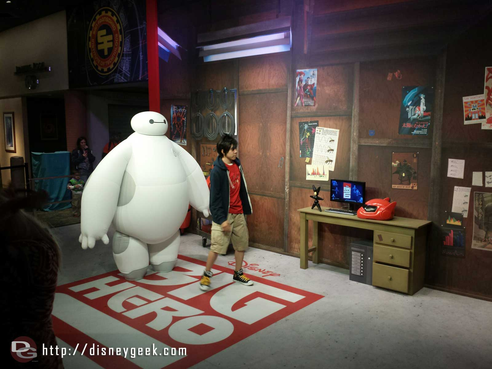 The Big Hero 6 Meet and Greet with Baymax and Hiro.