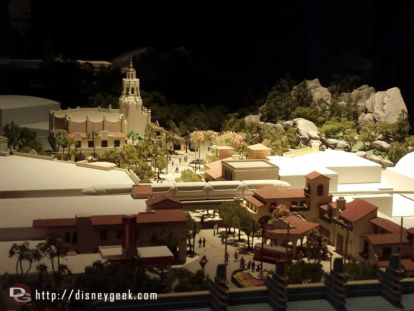 The Buena Vista Street Model is still in One Man's Dream. The new Fantasyland one is gone though.