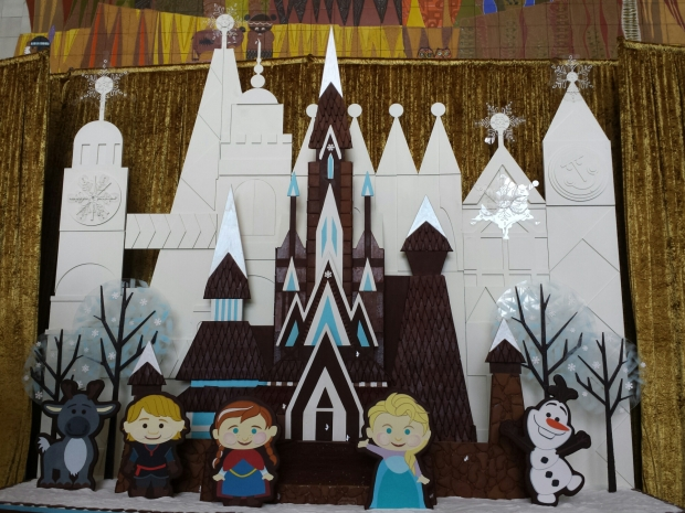 A Small World inspired Frozen gingerbread display at the Contemporary Resort.