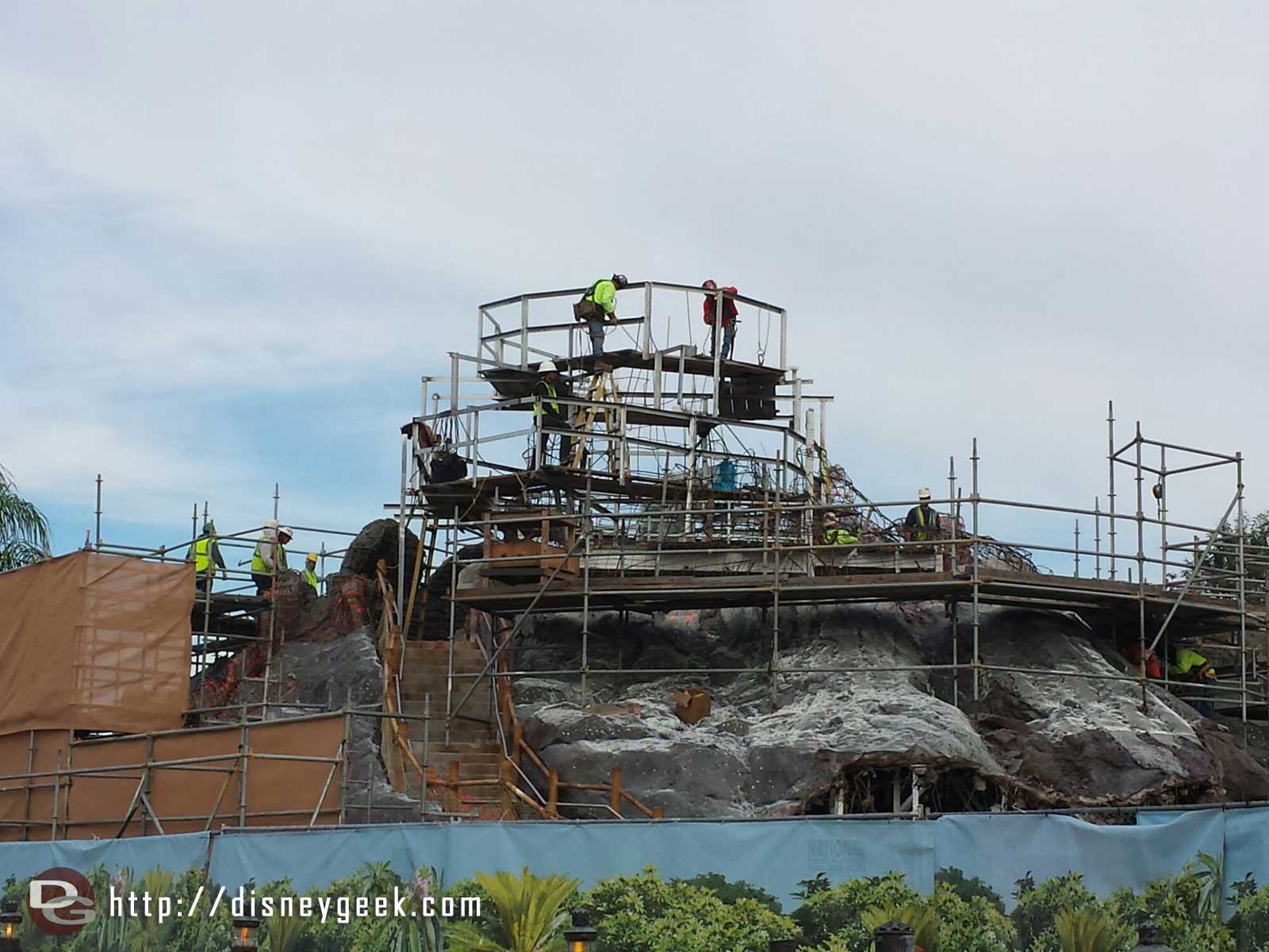 The Polynesian's pool volcano/pool is being redone