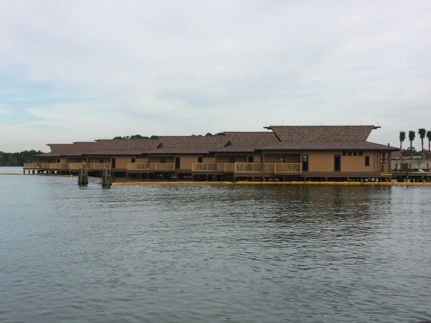 The Polynesian Village Resort bungalows are inching toward completion. We counted 20 of them.