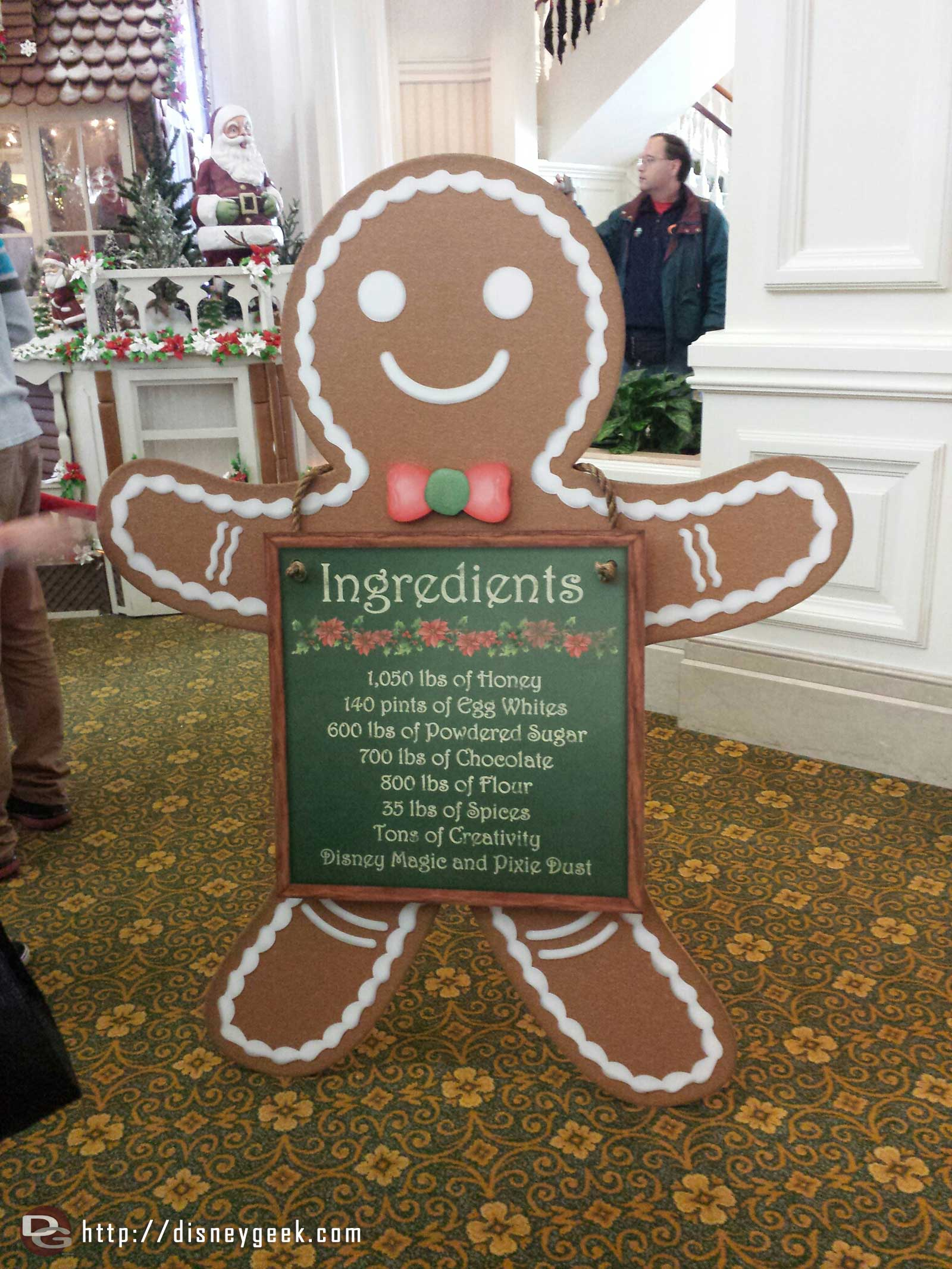 Grand Floridian gingerbread house ingredients #WDW