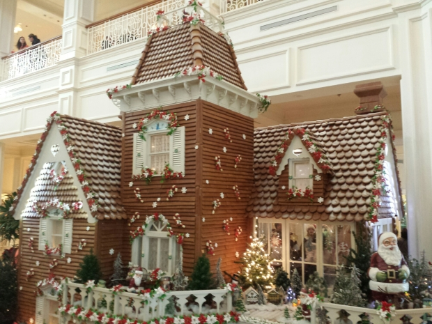 The Grand Floridian gingerbread house.