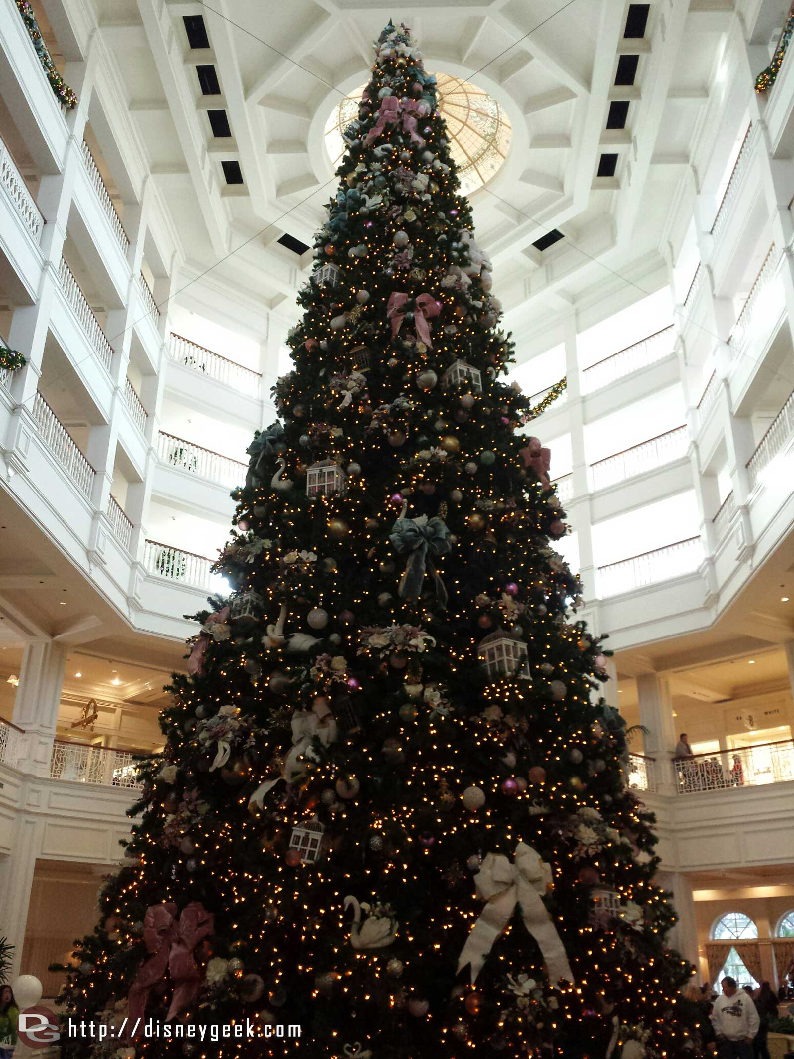 The Grand Floridian Christmas tree #WDW