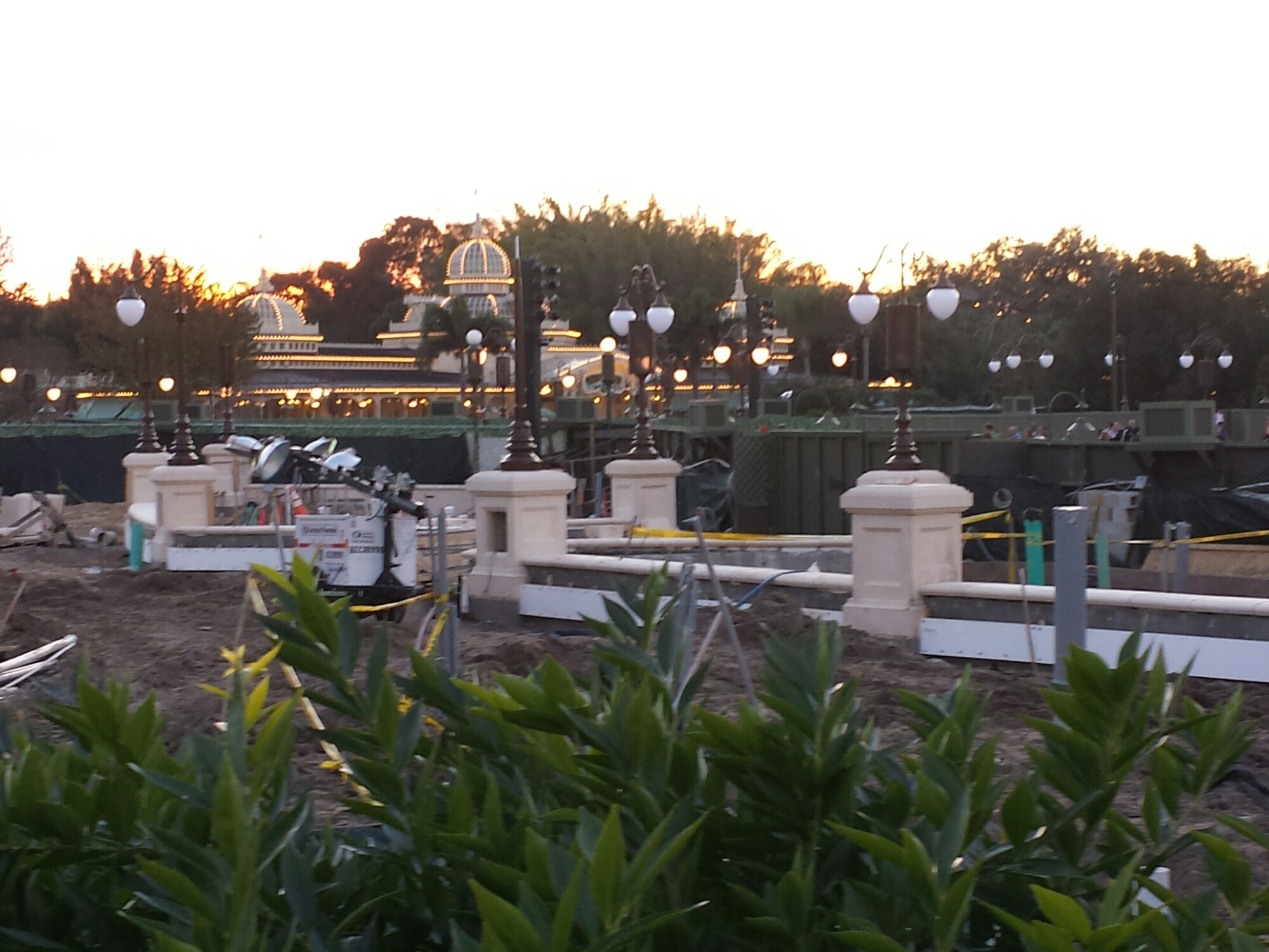 New lamp posts up around hub construction at the Magic Kingdom #WDW