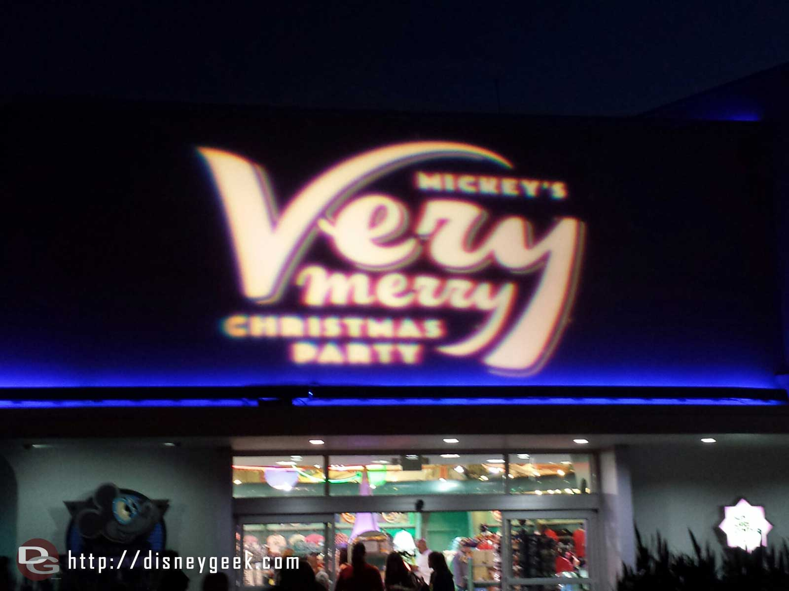 Mickey's Very Merry Christmas Party lights are on in Tomorrowland #WDW