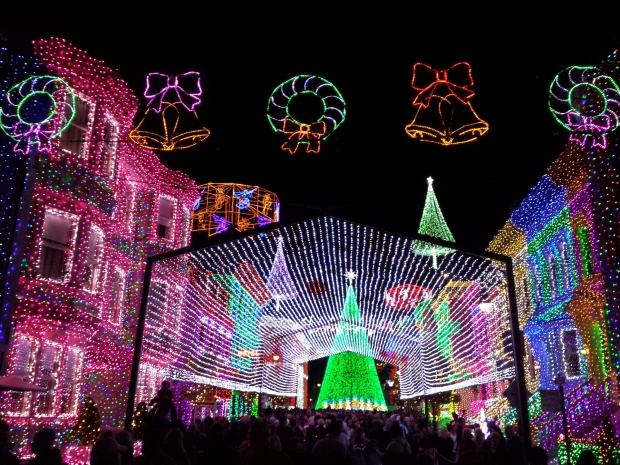 The Osborne Family Spectacle of Dancing Lights at Disney's Hollywood Studios.