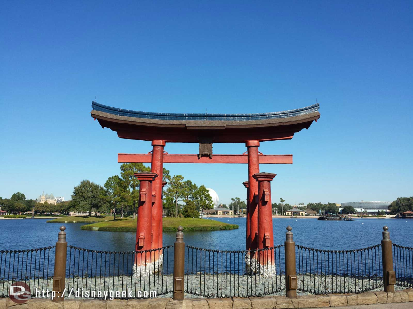 Passing the torii in Japan #Epcot