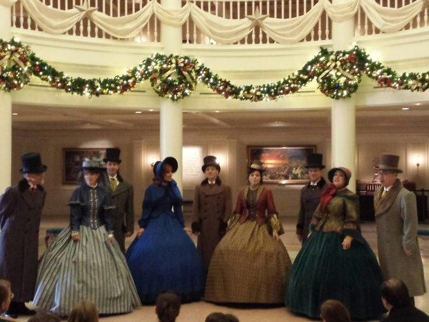 The Voices of Liberty performing in the American Adventure Lobby.