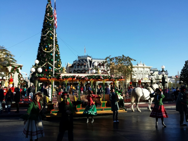 Started off the day at the Magic Kingdom.  The Main Street Trolley Show in Town Square.