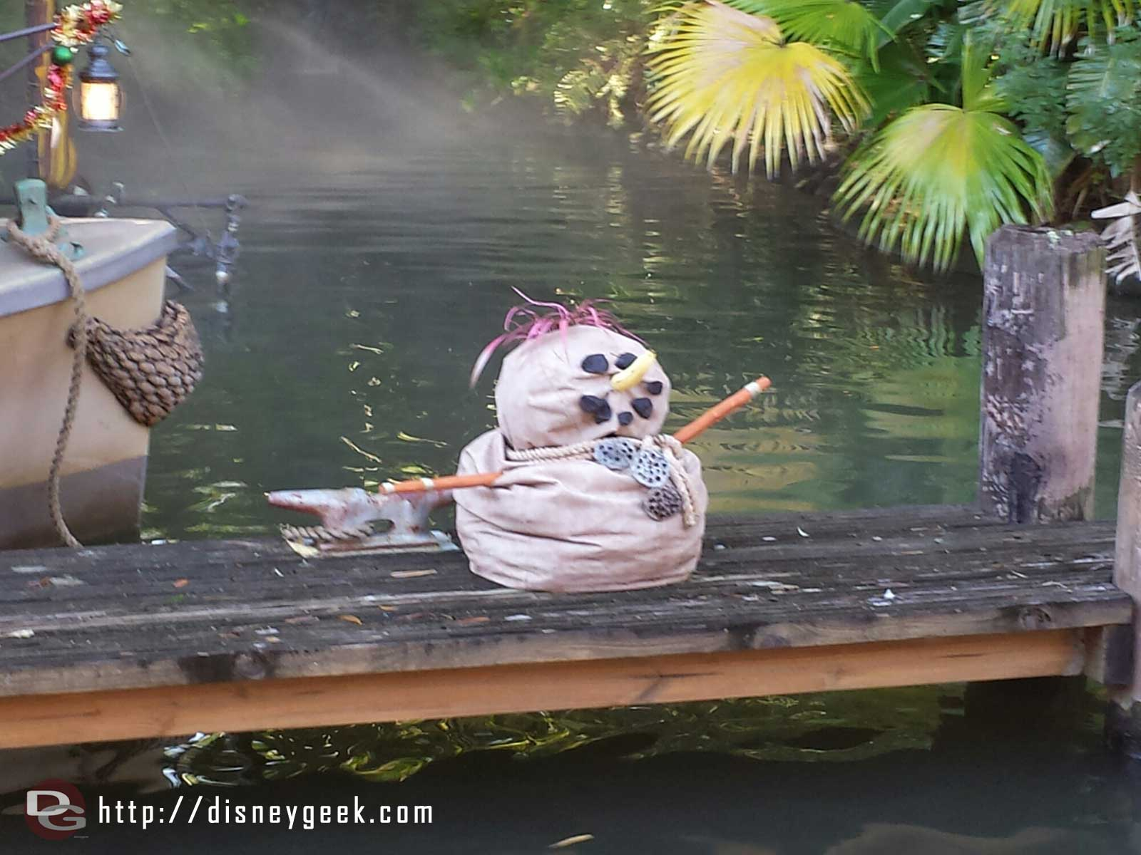 "Jingle Cruise ""snow"" man #WDW"