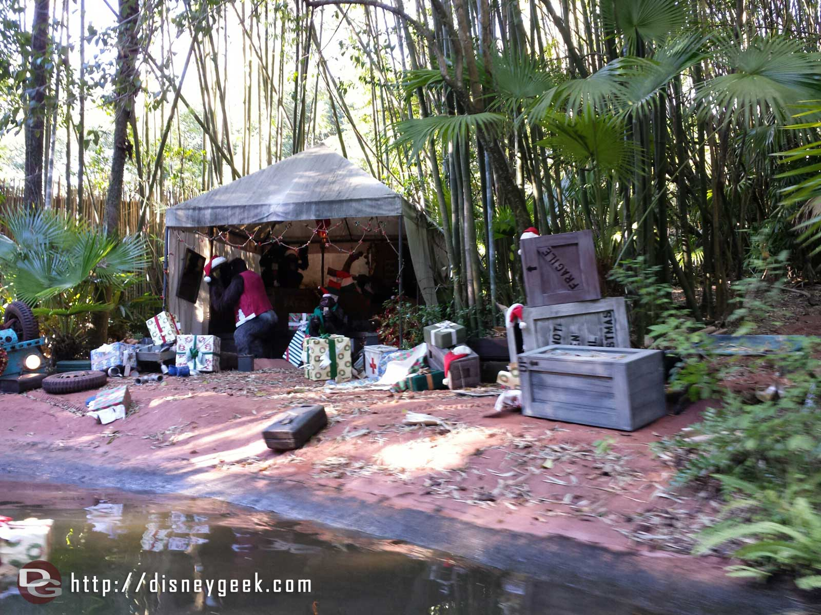 Jingle Cruise gorilla encampment #WDW