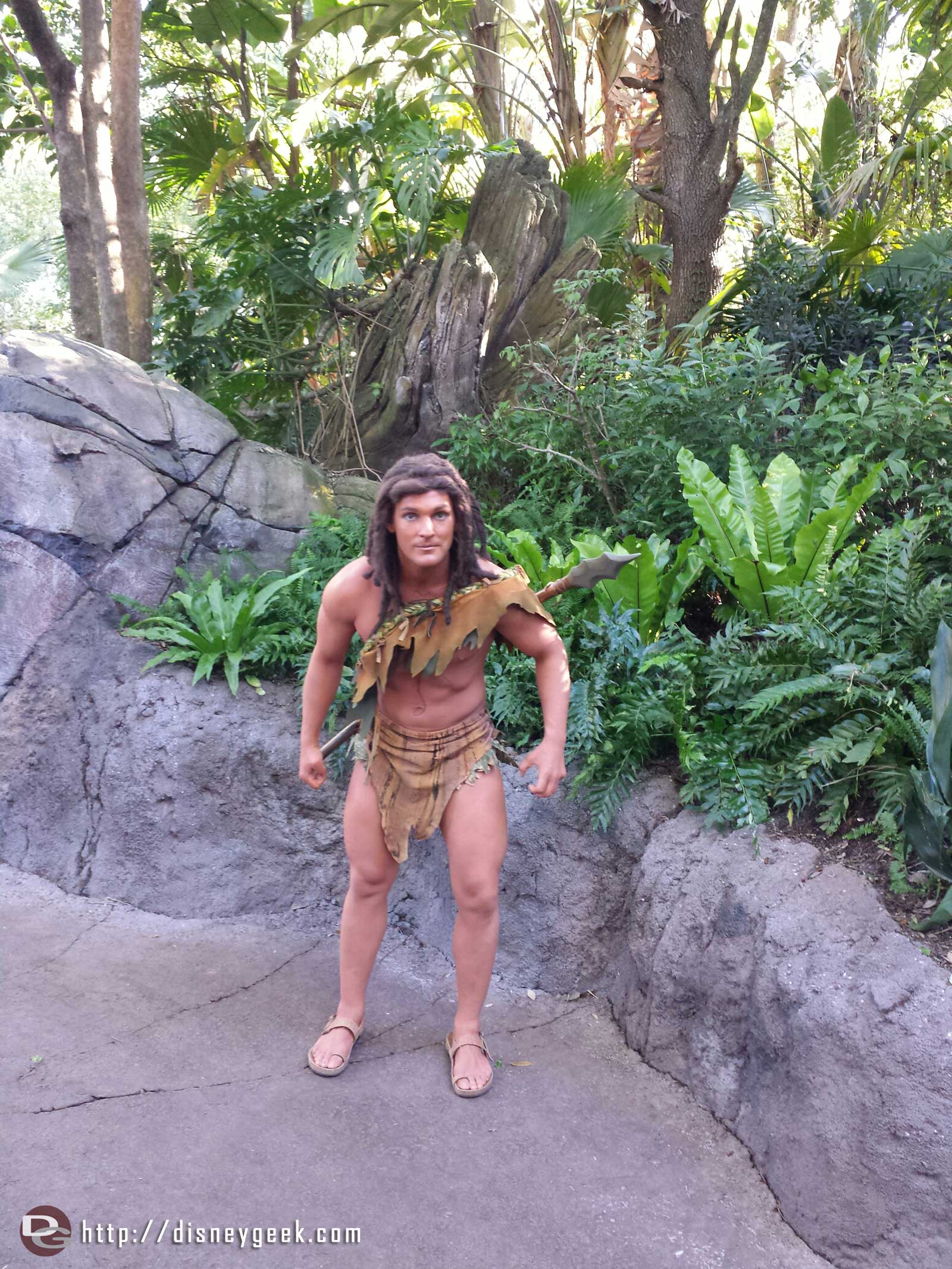 Tarzan along a trail on Discovery Island.