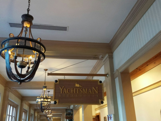 Dinner this evening at Yachtsman Steakhouse.