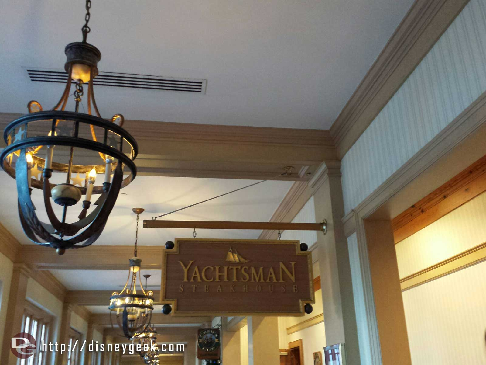 Dinner this evening at Yachtsman Steakhouse #WDW