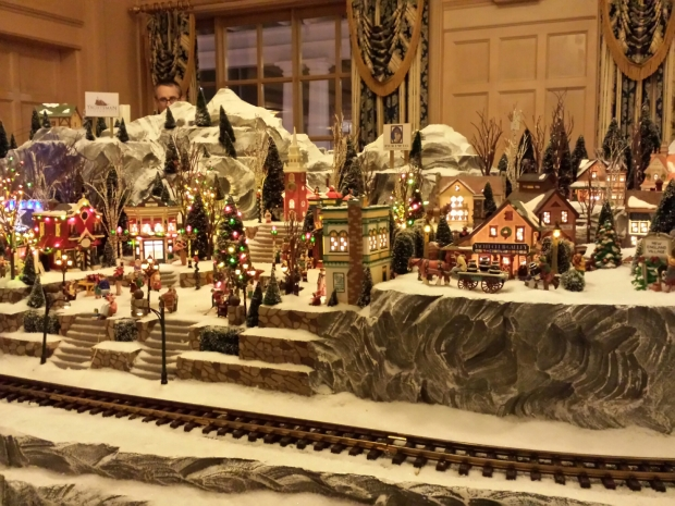 The train display at the Yacht Club.