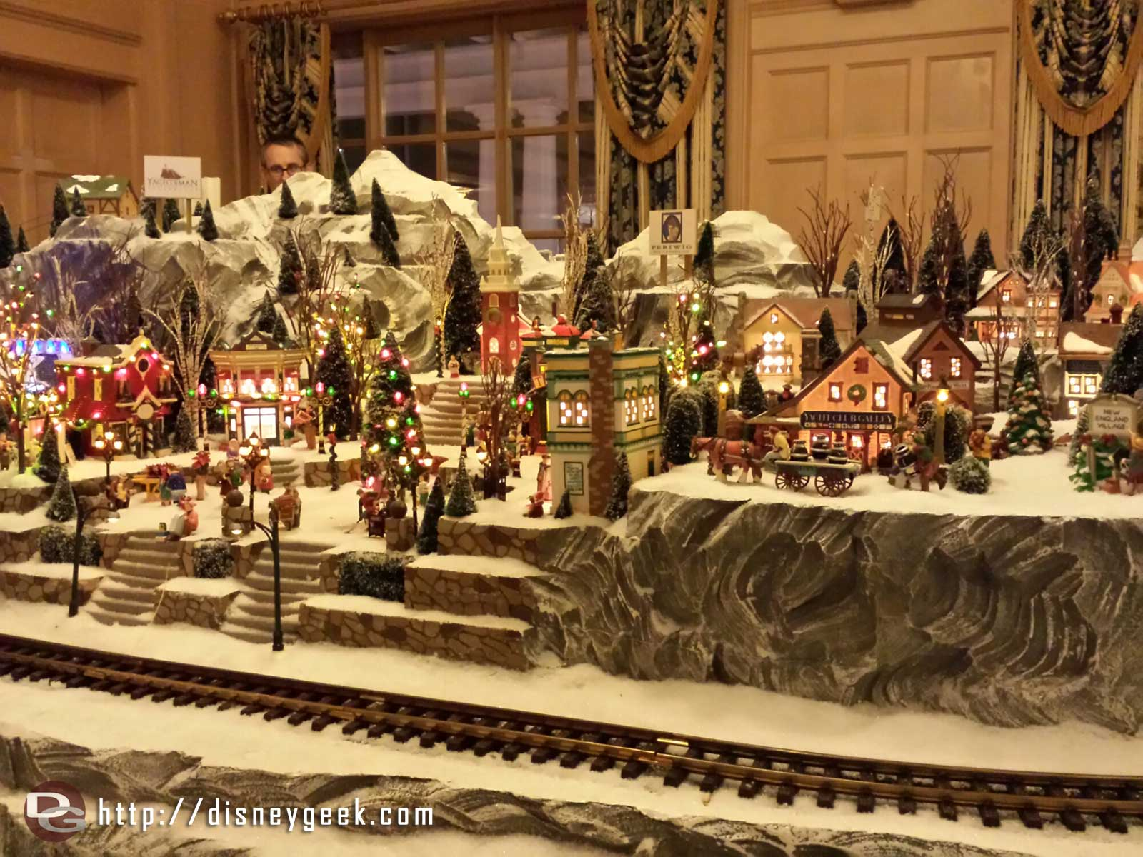 Yacht Club train display #WDW