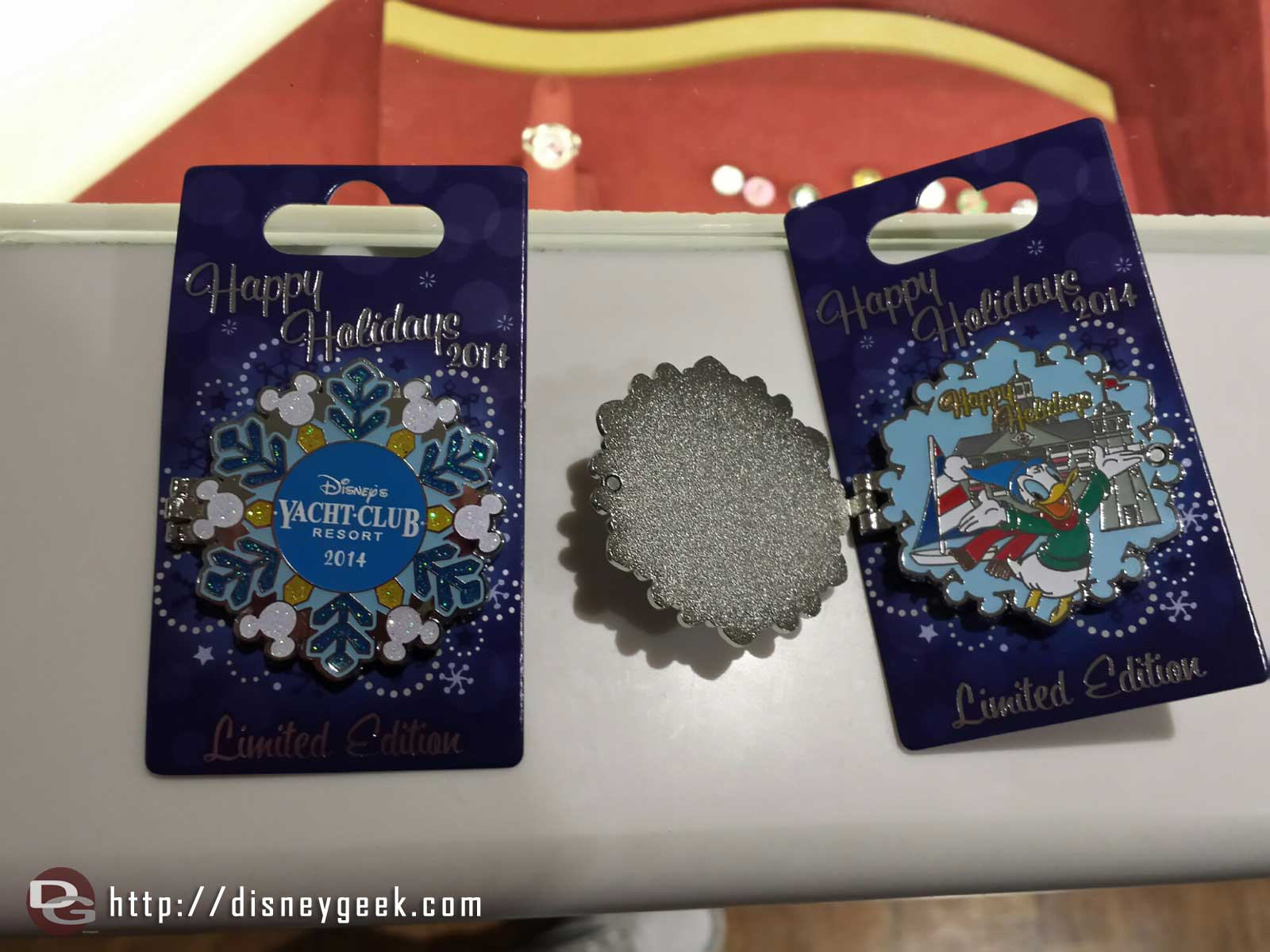 2014 Yacht Club Holiday pin.