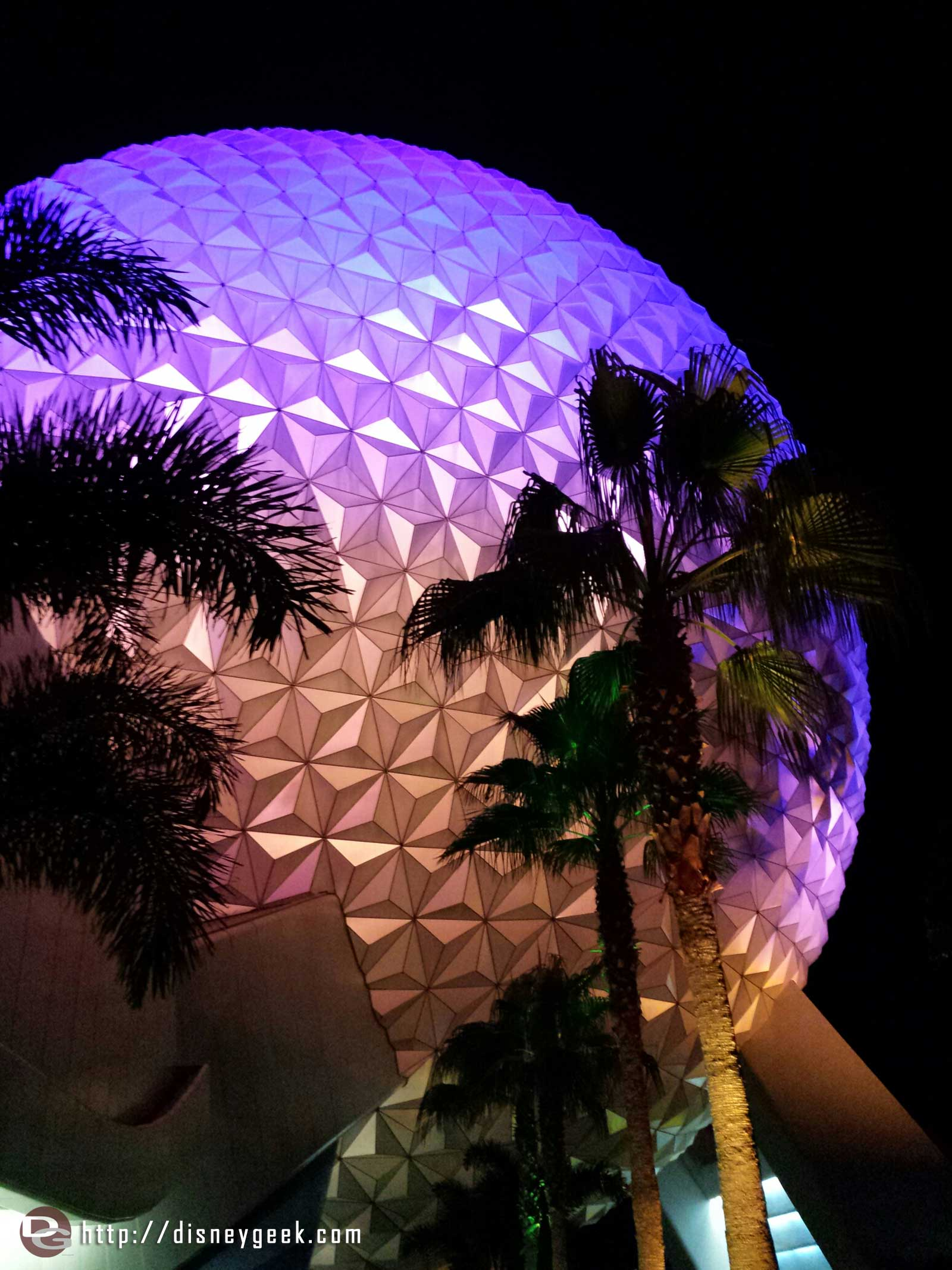 Final stop of the evening, Epcot. Spaceship Earth.