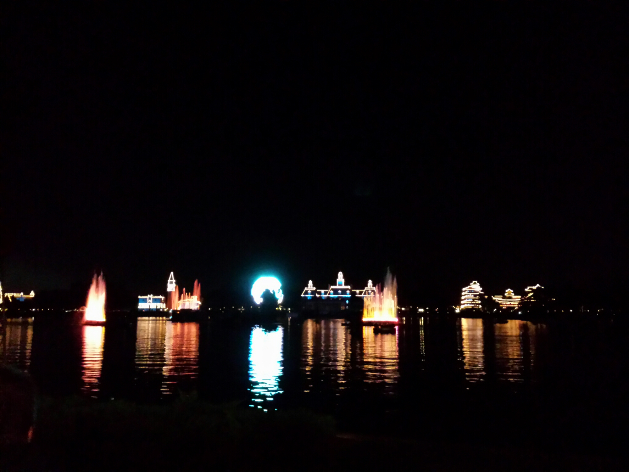 Illuminations Reflections of Earth from the FastPass+ area #Epcot