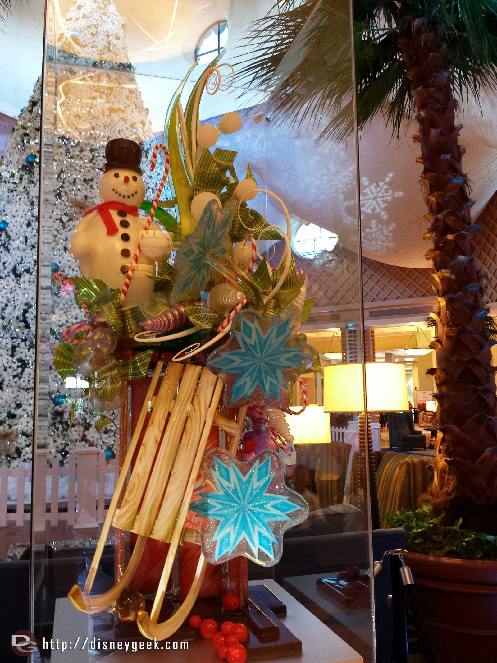 A sugar showpiece in the Dolphin hotel lobby #WDW