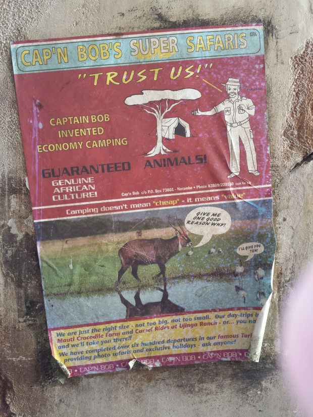 A poster/ad in Harambe.. does Bob look familiar to you all?