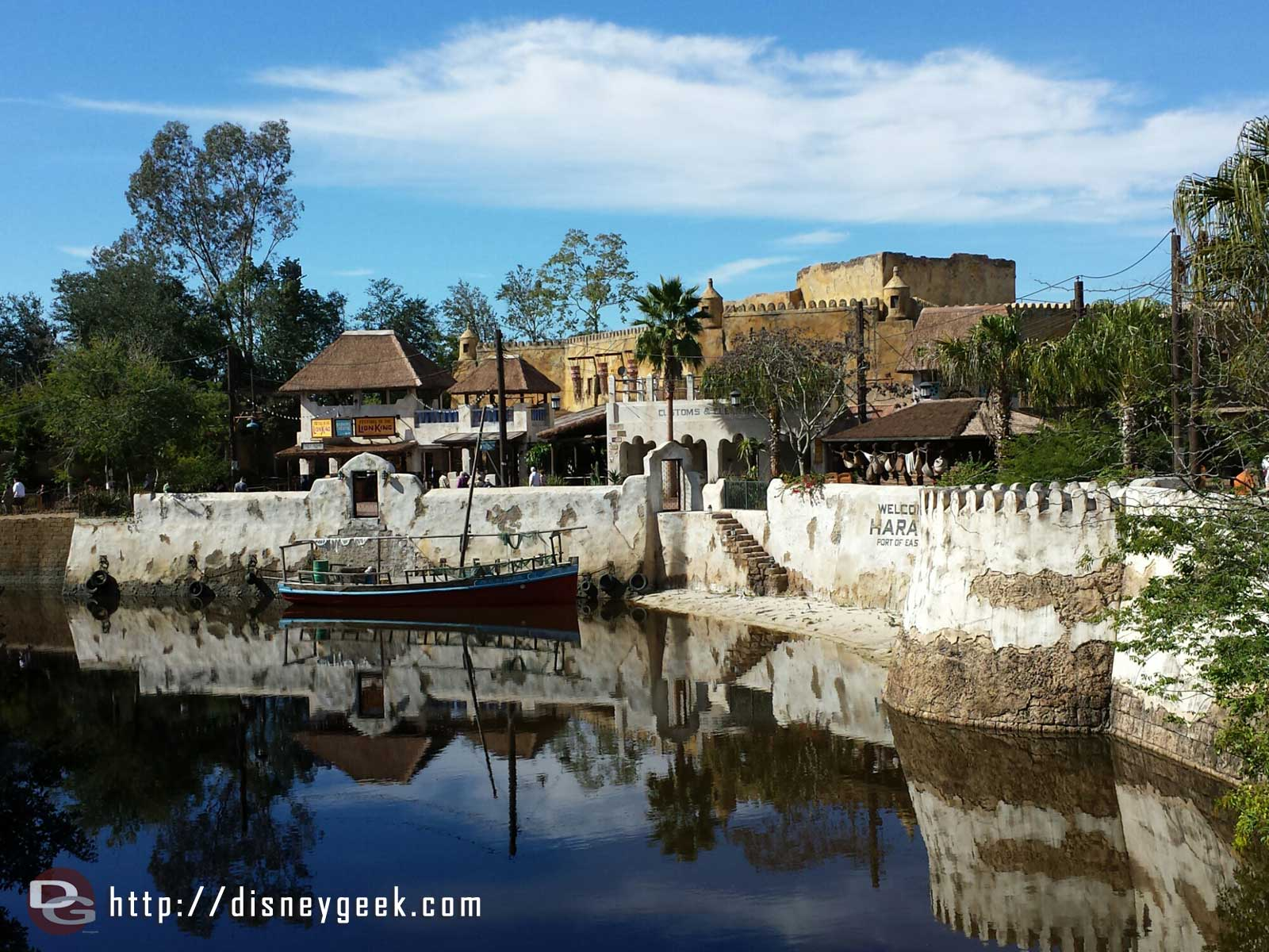 Harambe theatre area from the bridge – Disney's Animal Kingdom #WDW