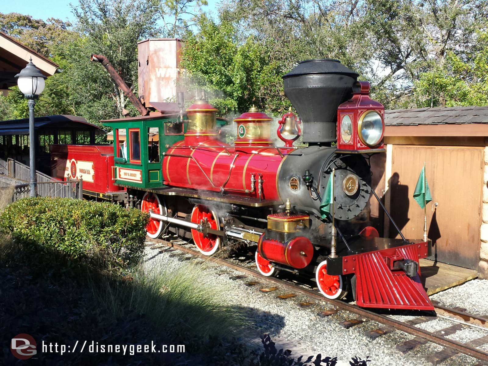 Walt Disney World Railroad – the Roy O Disney in the Fantasyland station