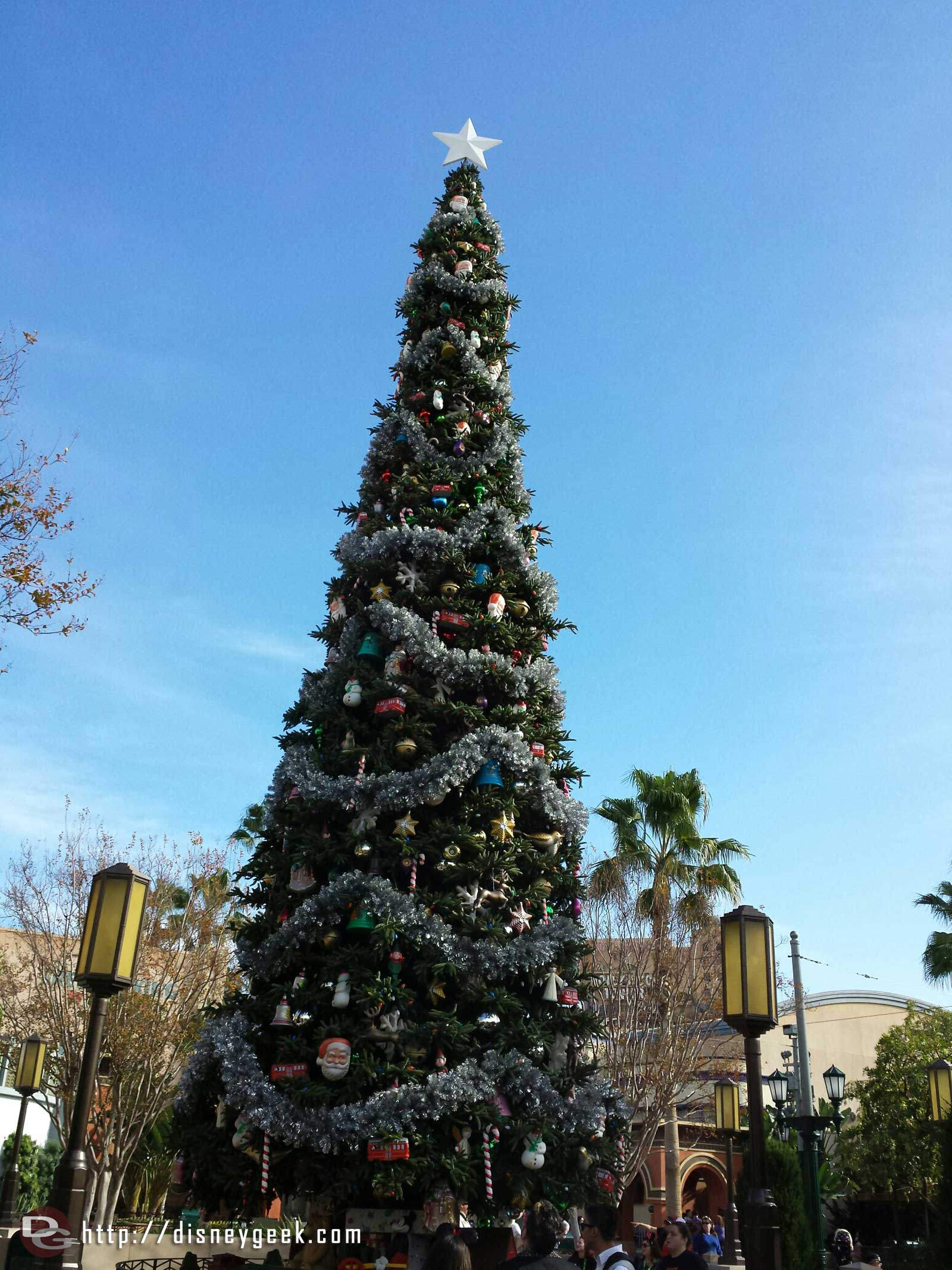 Back in California 1st stop today #BuenaVistaStreet here is the Christmas tree