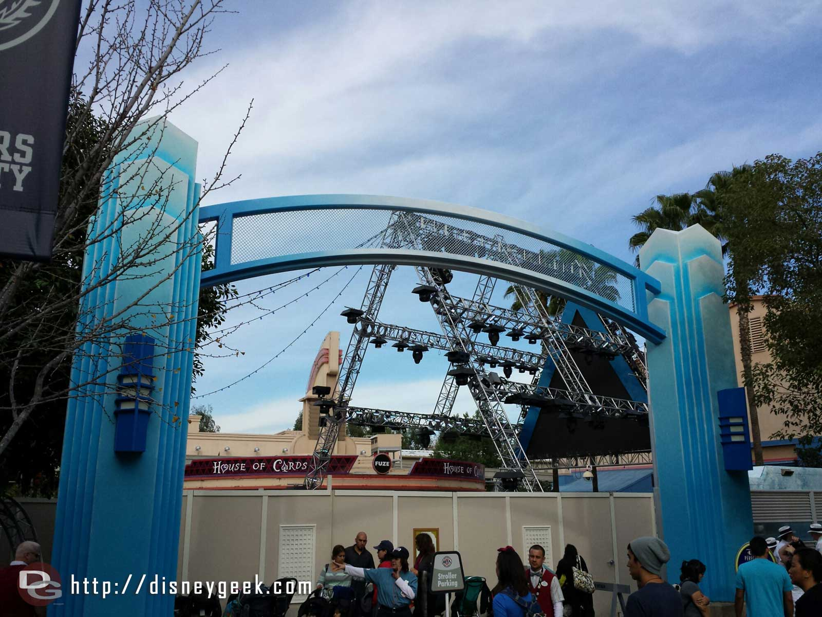 No #FrozenFun today. Walls still up and you can still see some #MadTParty signage too