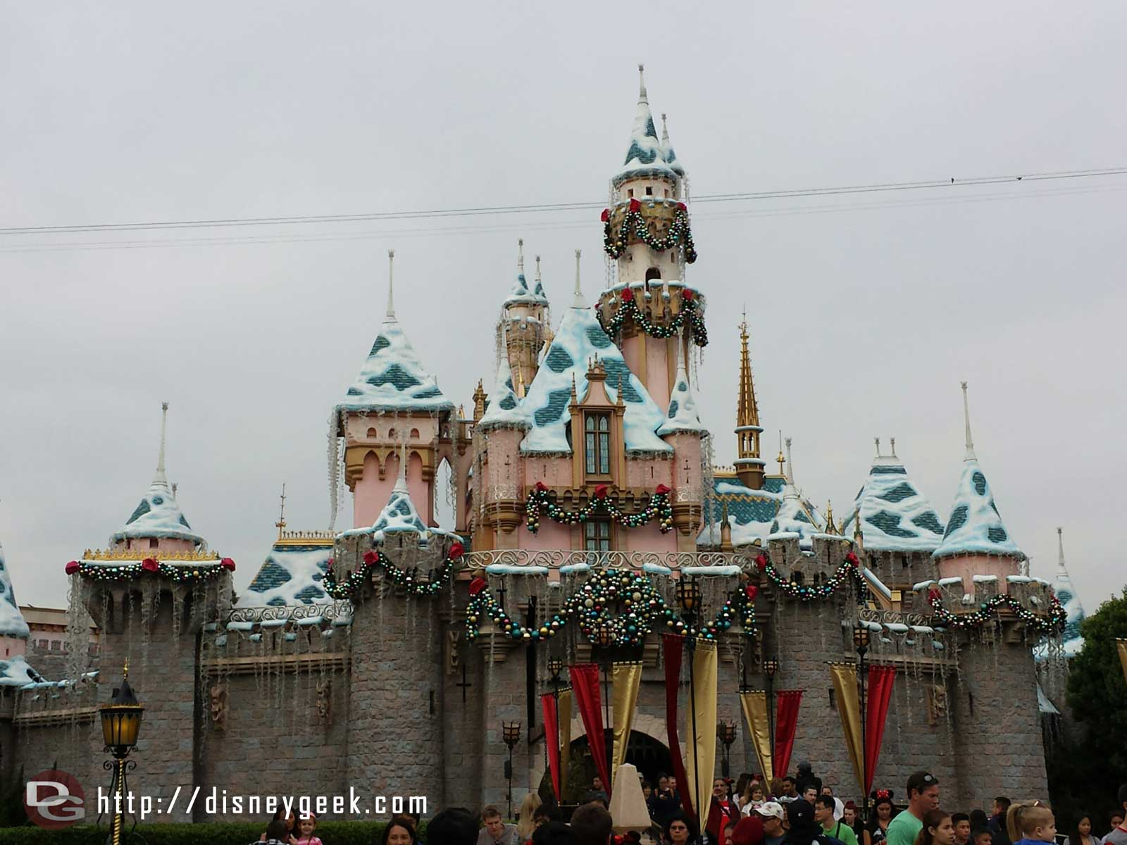 Sleeping Beauty Castle on this gray afternoon #Disneyland
