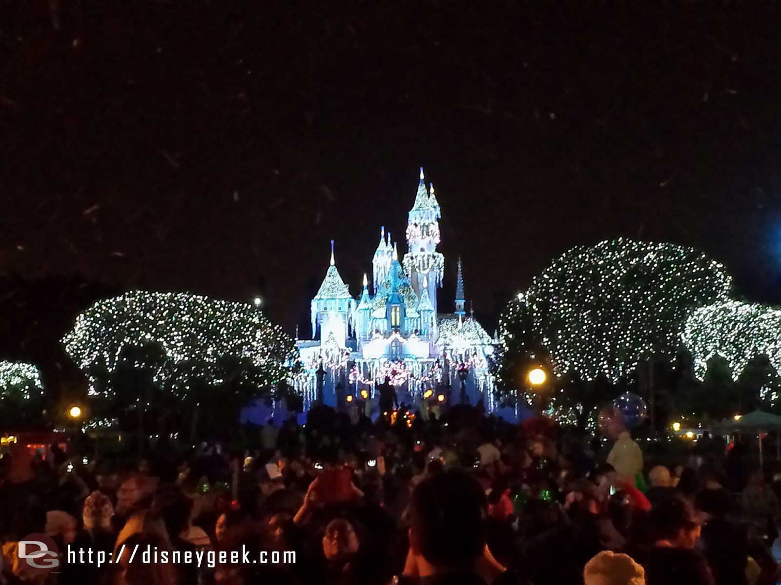 Wintertime Enchantment moment on Main Street USA #Disneyland
