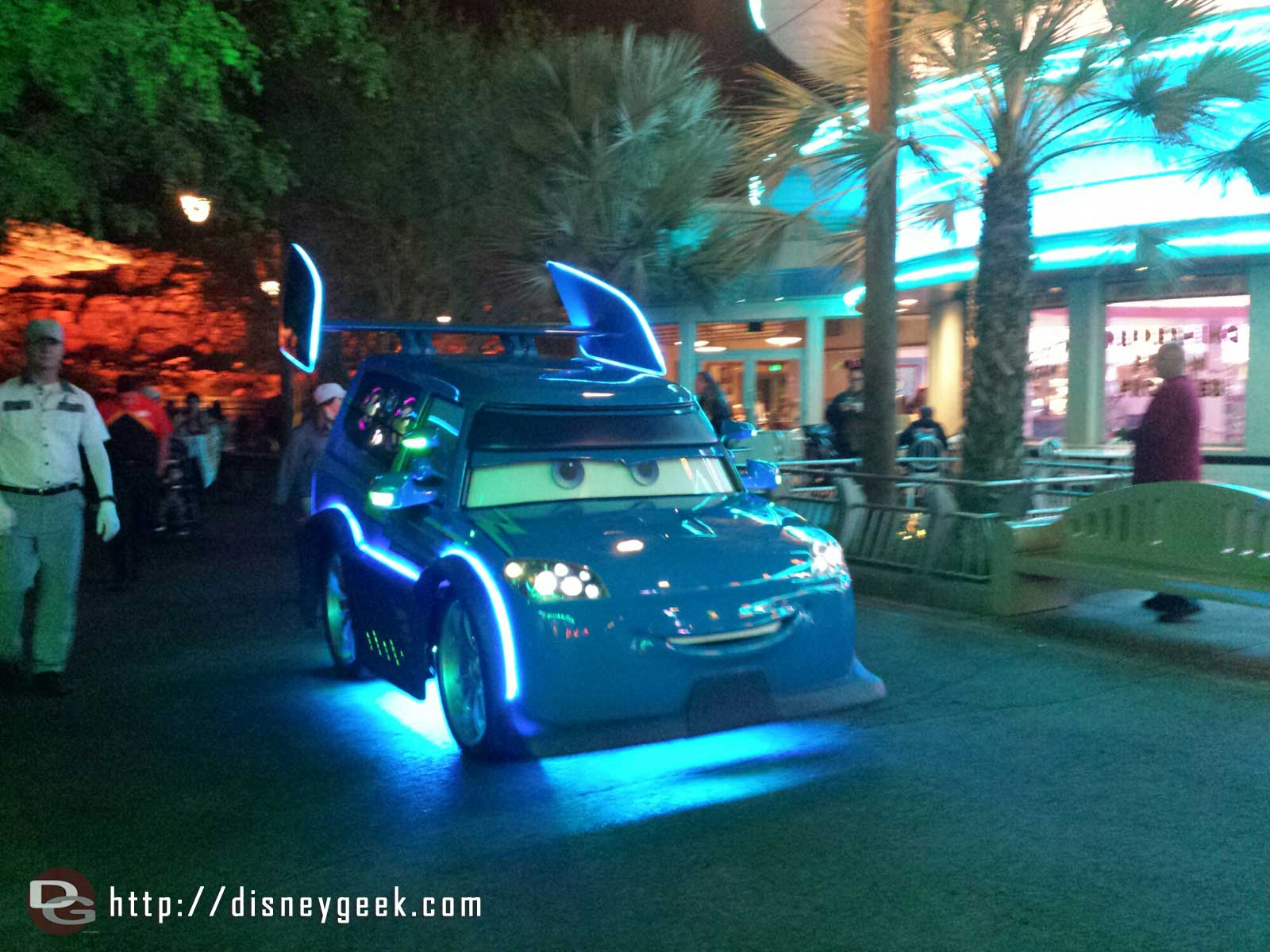 DJ rolling out to his dance party #CarsLand
